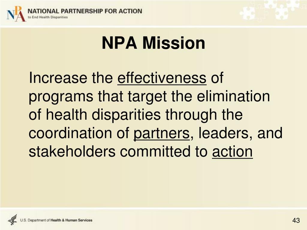 NPA Mission
