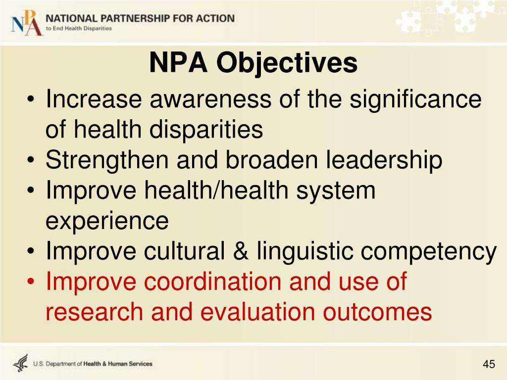 NPA Objectives
