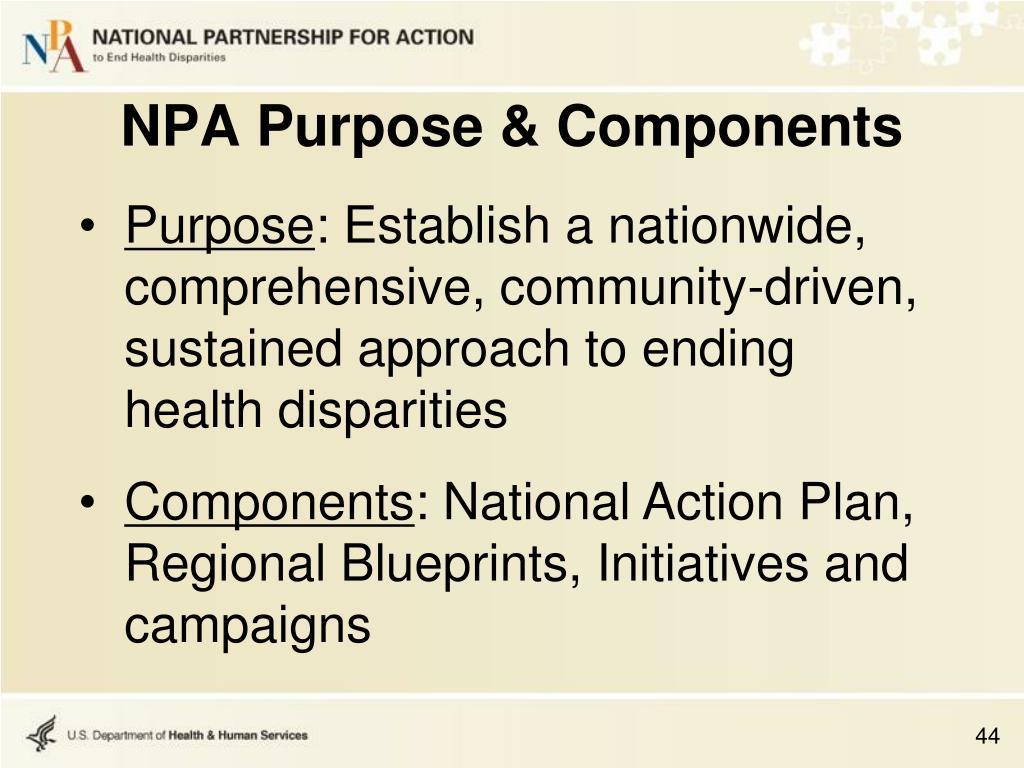 NPA Purpose & Components