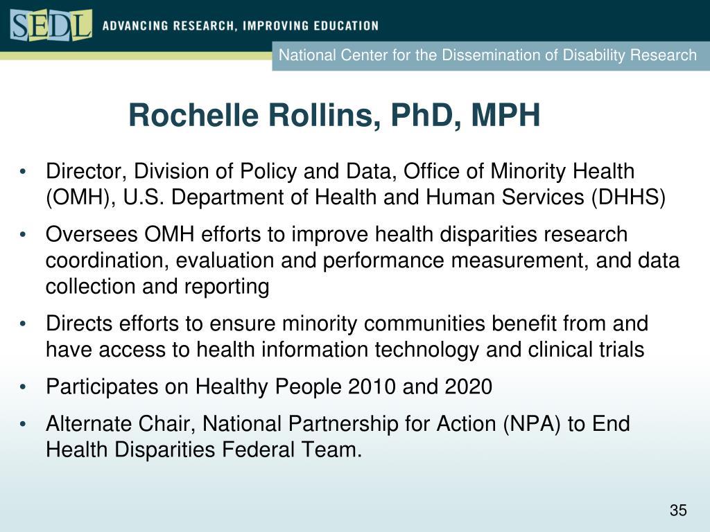 Rochelle Rollins, PhD, MPH