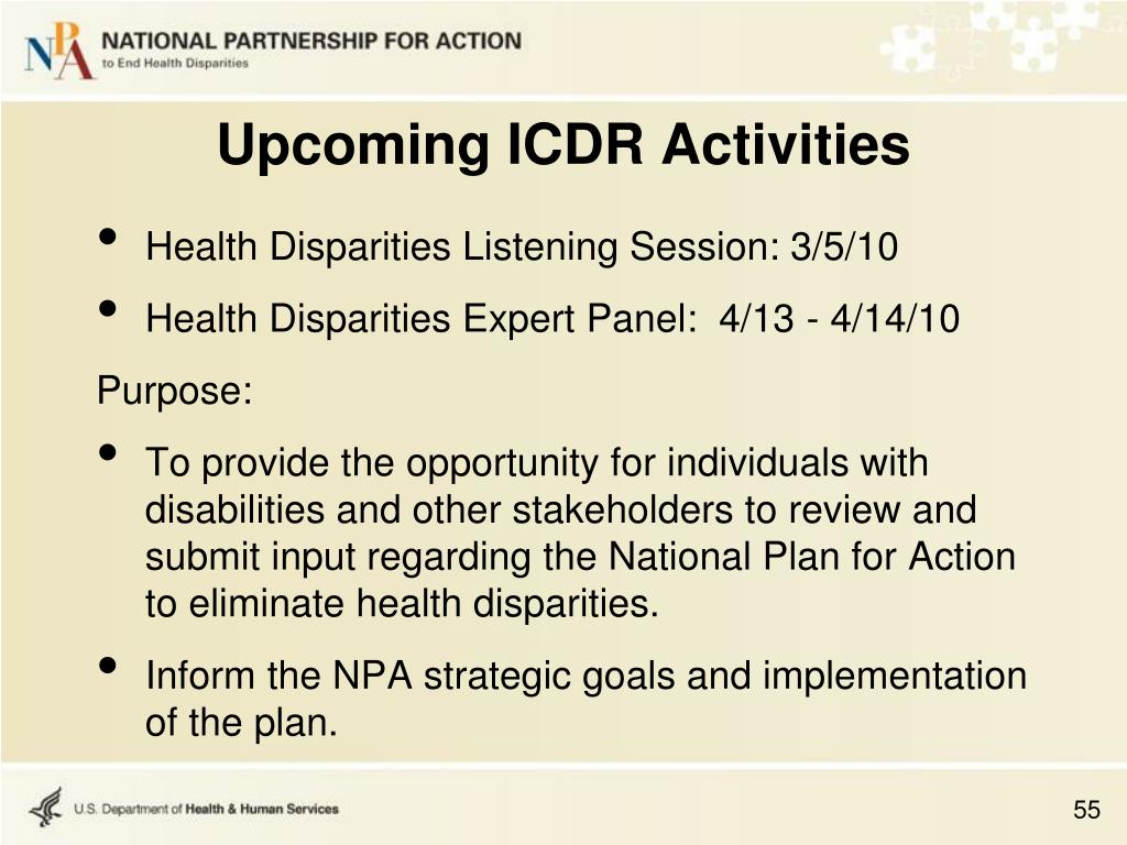 Health Disparities Listening Session: 3/5/10