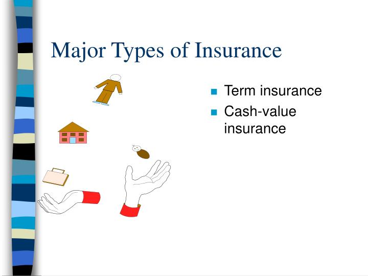 Major Types of Insurance