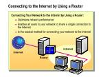 connecting to the internet by using a router
