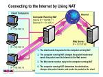 connecting to the internet by using nat