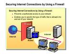 securing internet connections by using a firewall