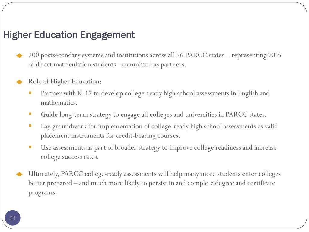 Higher Education Engagement