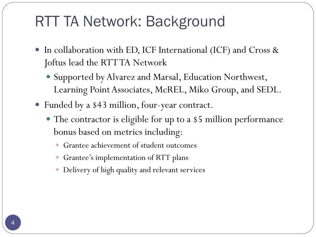 RTT TA Network: Background