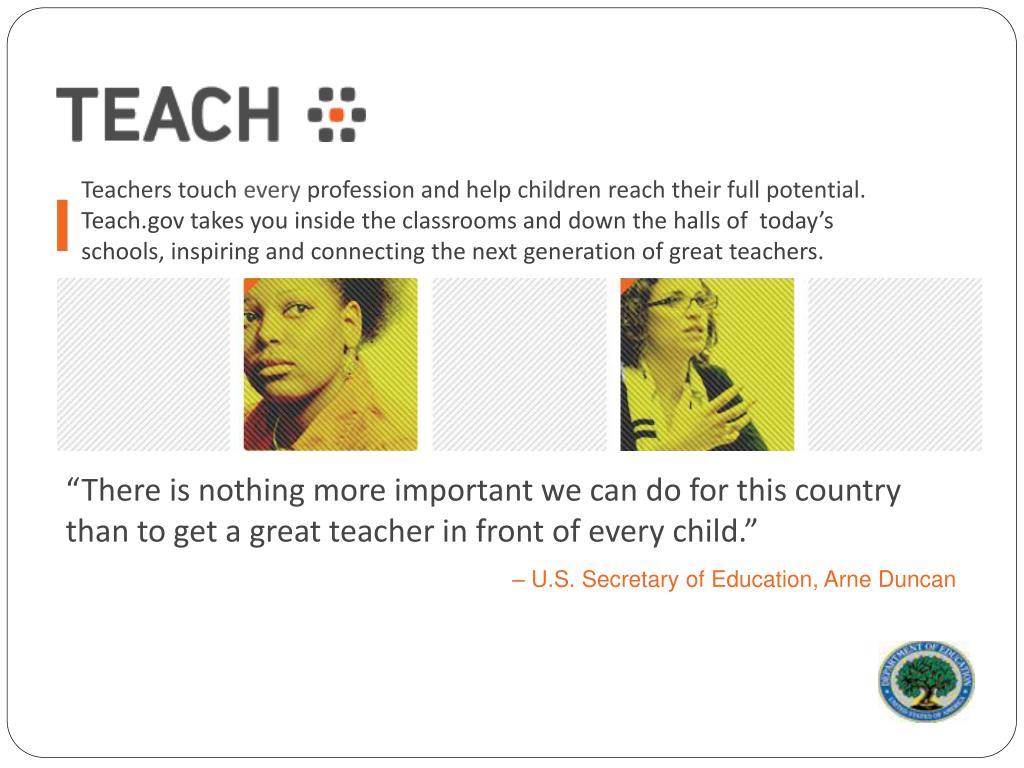 Teachers touch