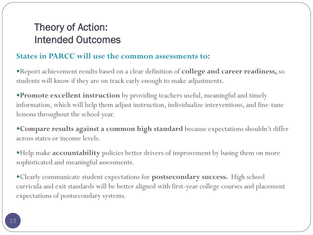 Theory of Action: