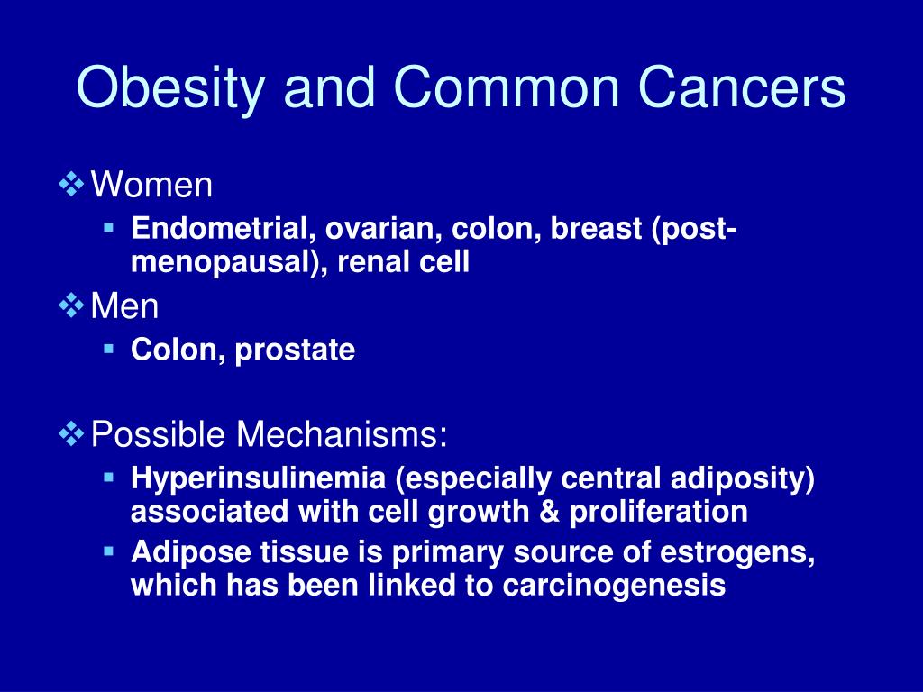 Obesity and Common Cancers