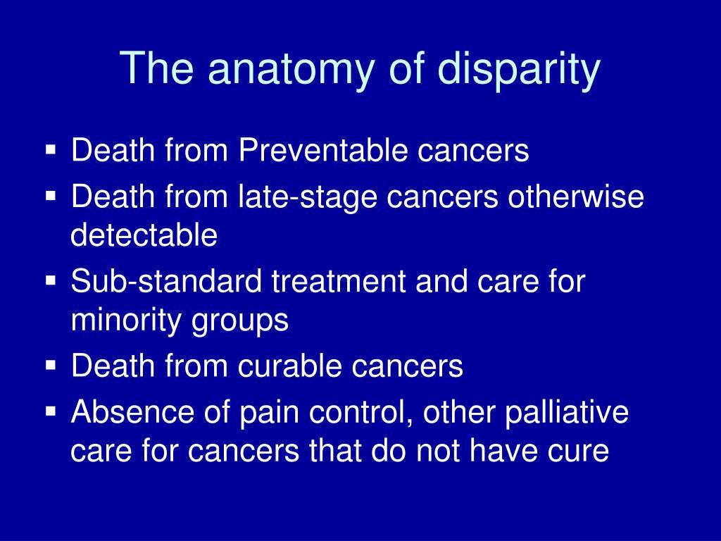 The anatomy of disparity