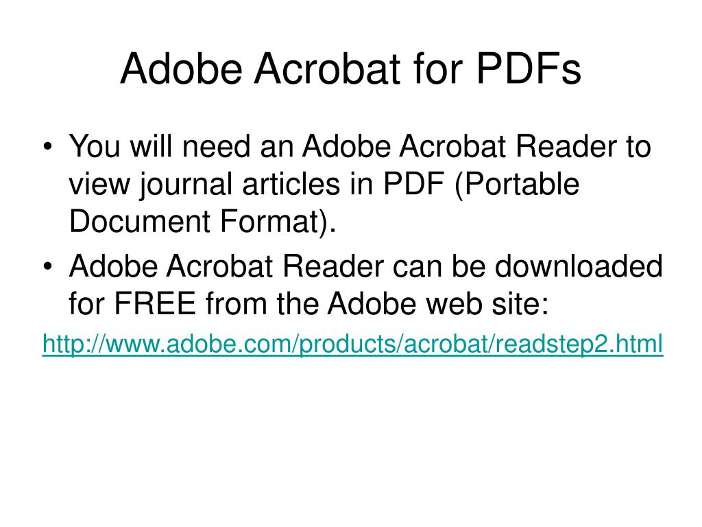 Adobe Acrobat for PDFs