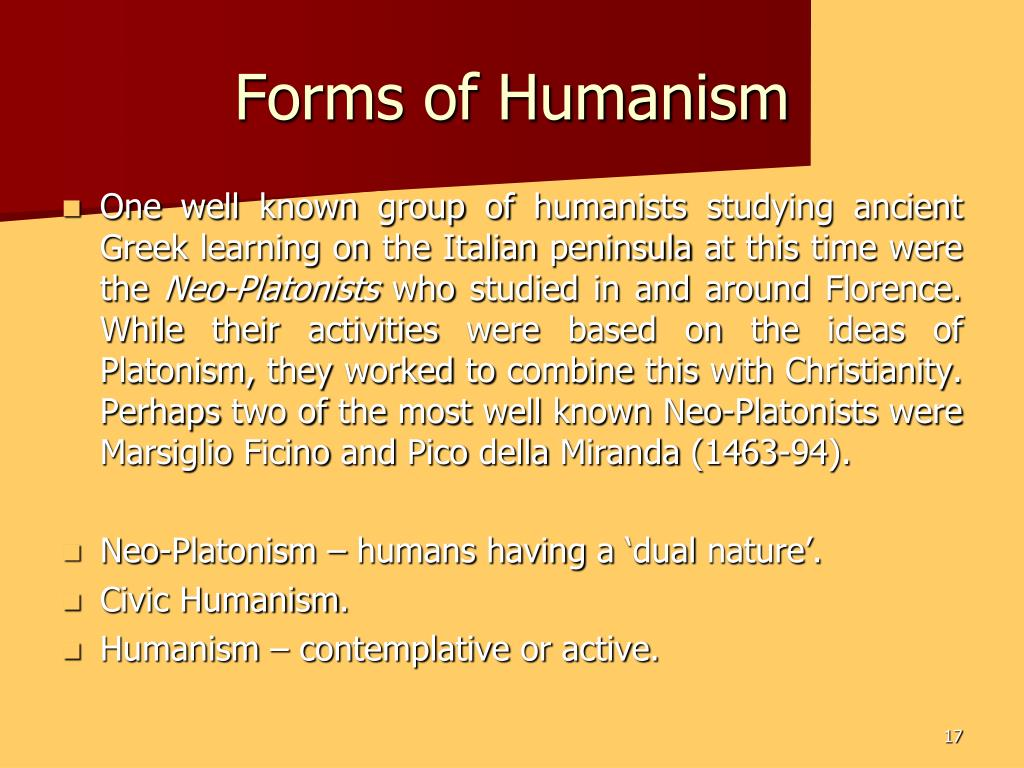 Forms of Humanism