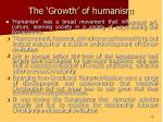 the growth of humanism