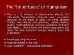 the importance of humanism