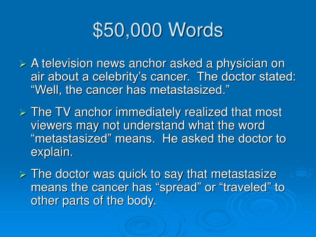 $50,000 Words
