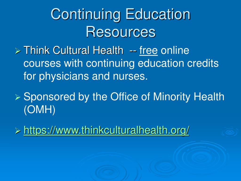 Continuing Education Resources