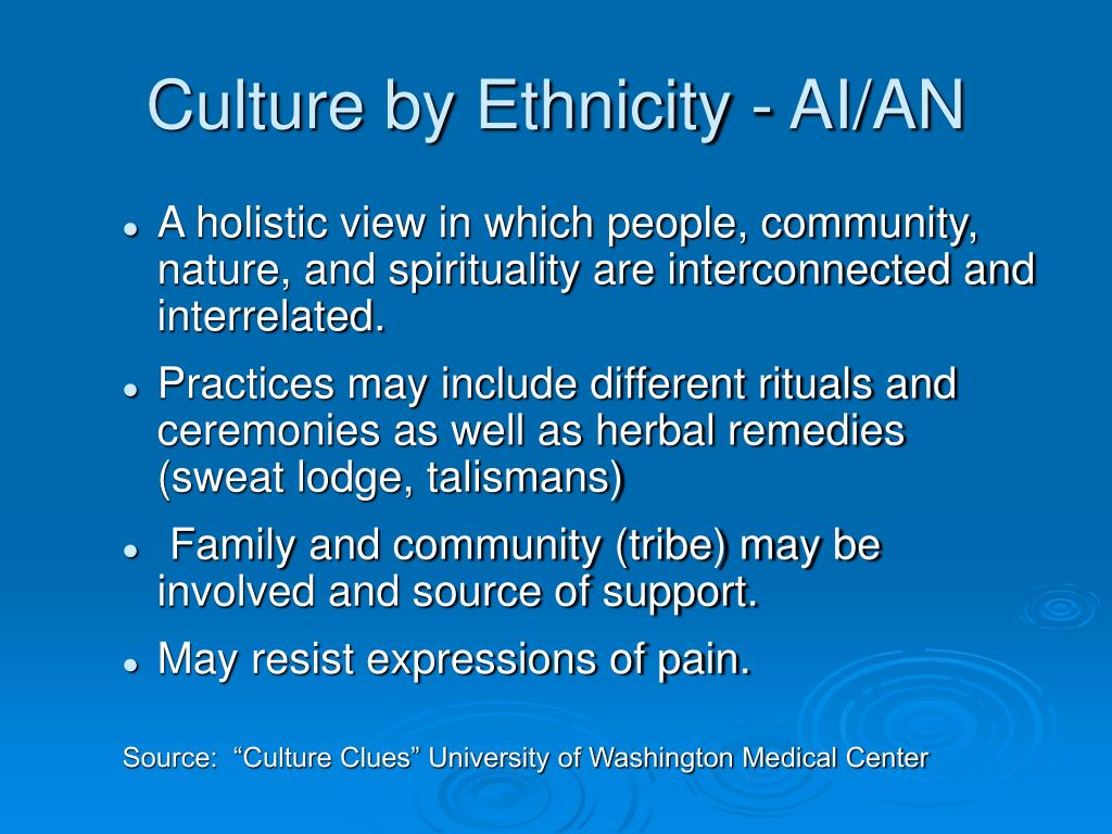 Culture by Ethnicity - AI/AN
