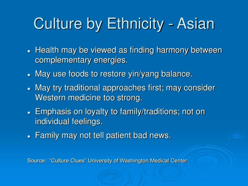 Culture by Ethnicity - Asian