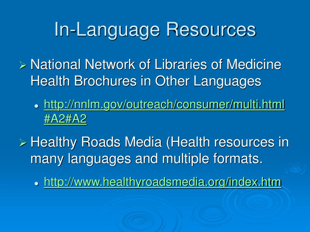 In-Language Resources