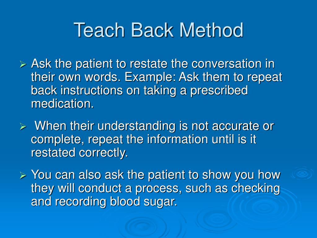 Teach Back Method
