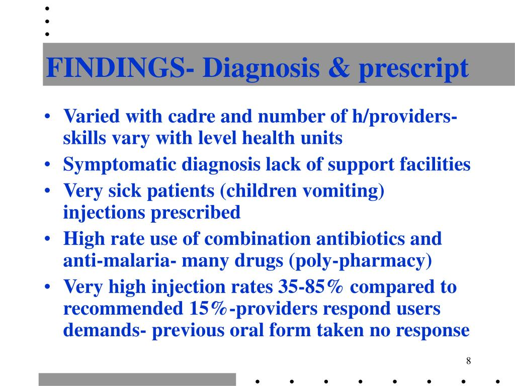 FINDINGS- Diagnosis & prescript
