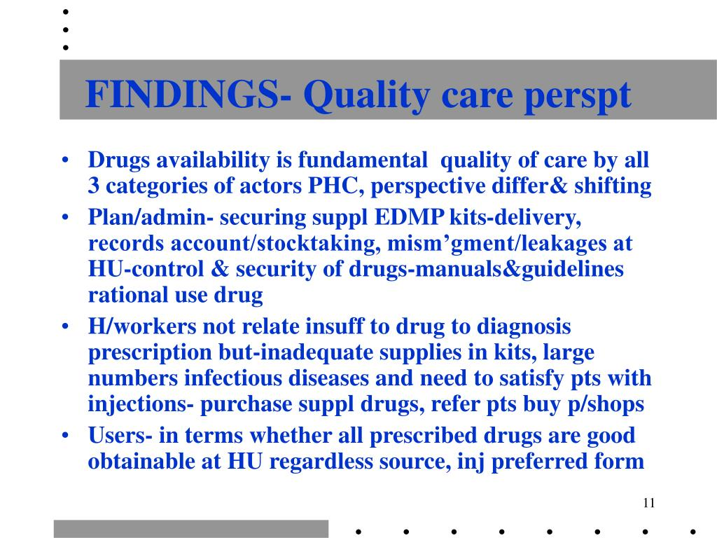 FINDINGS- Quality care perspt