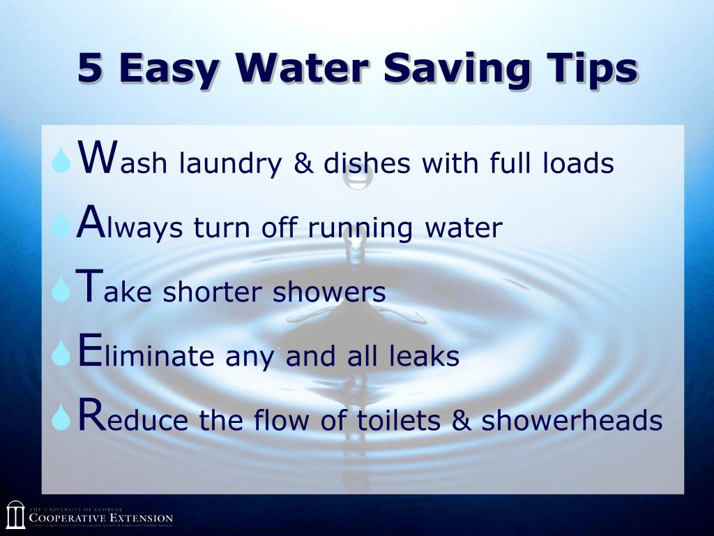 5 Easy Water Saving Tips
