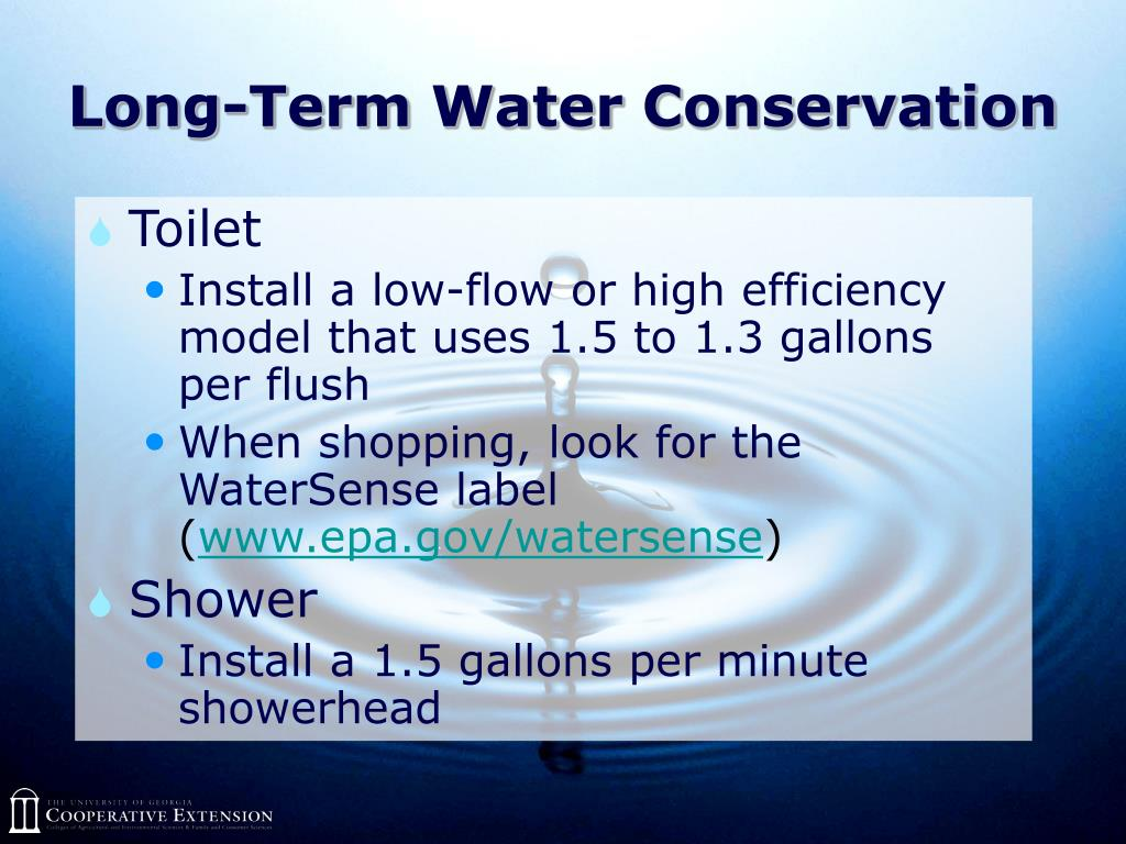 Long-Term Water Conservation
