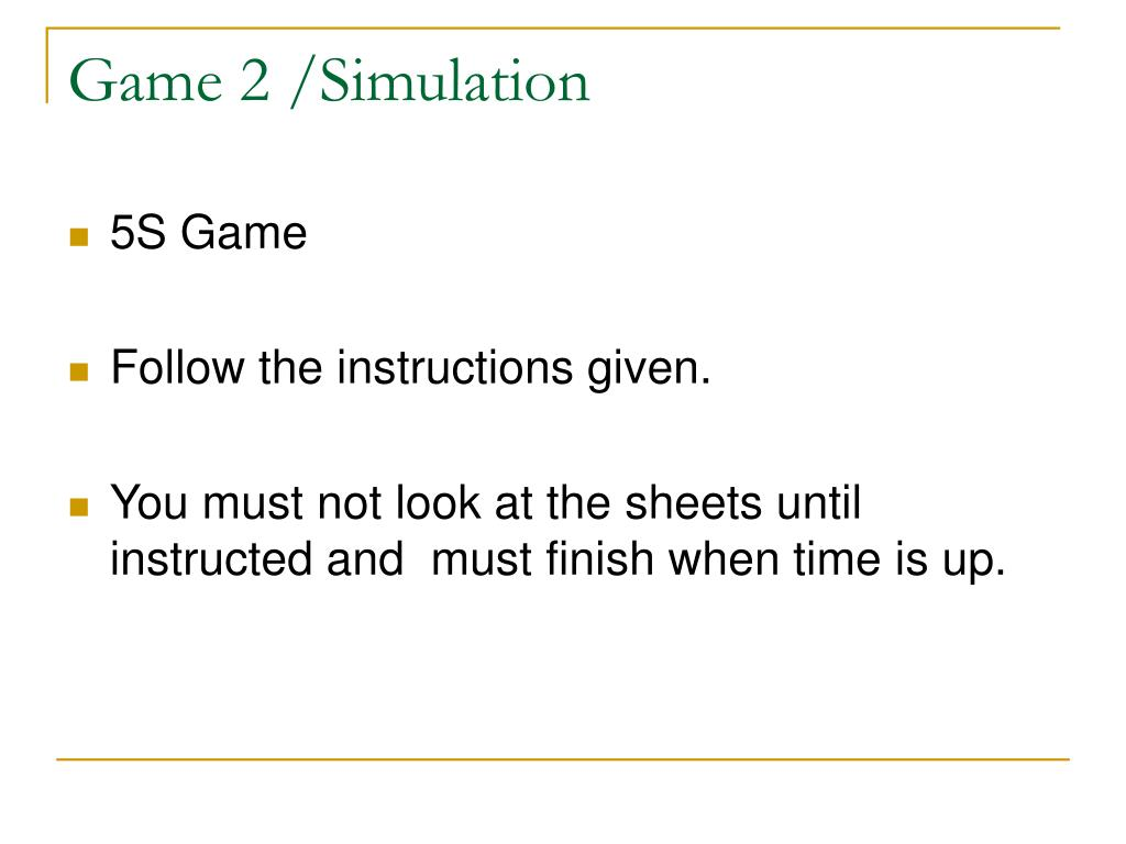Game 2 /Simulation