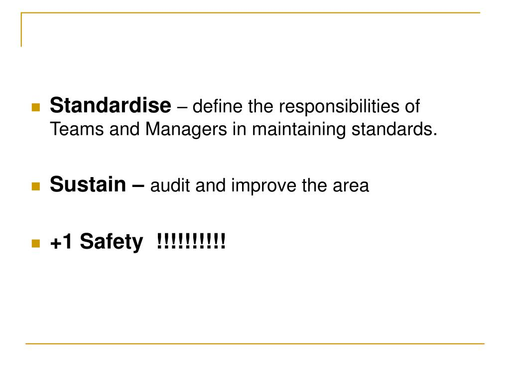 Standardise