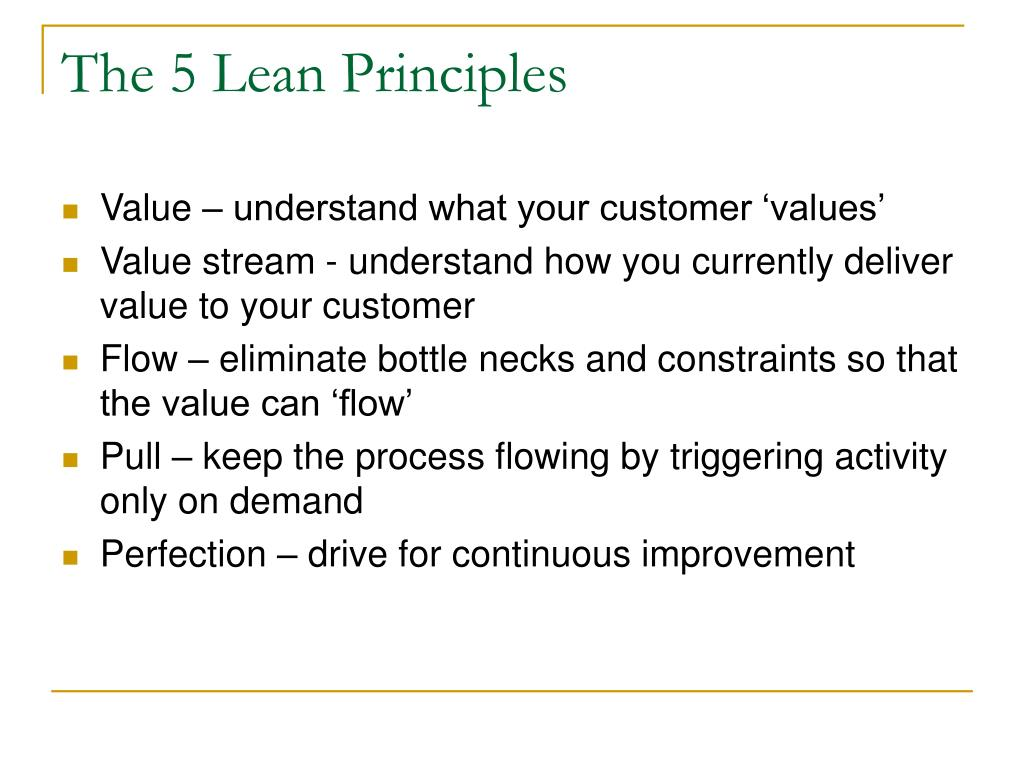 The 5 Lean Principles