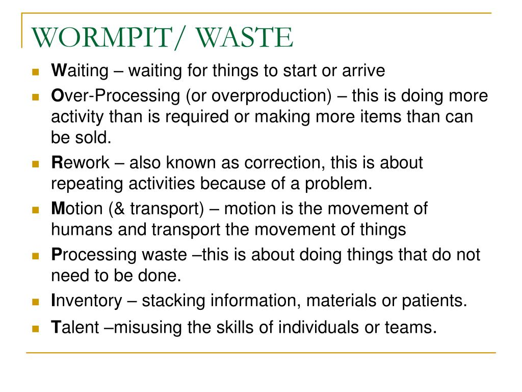WORMPIT/ WASTE