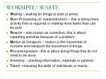 wormpit waste