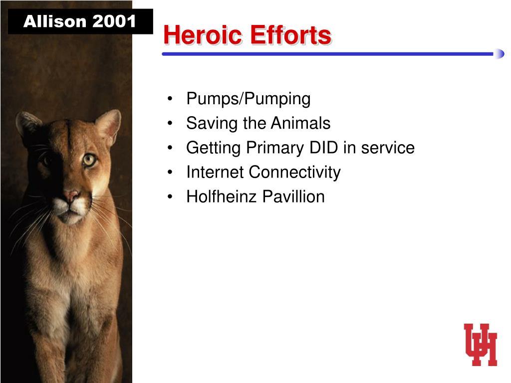 Heroic Efforts