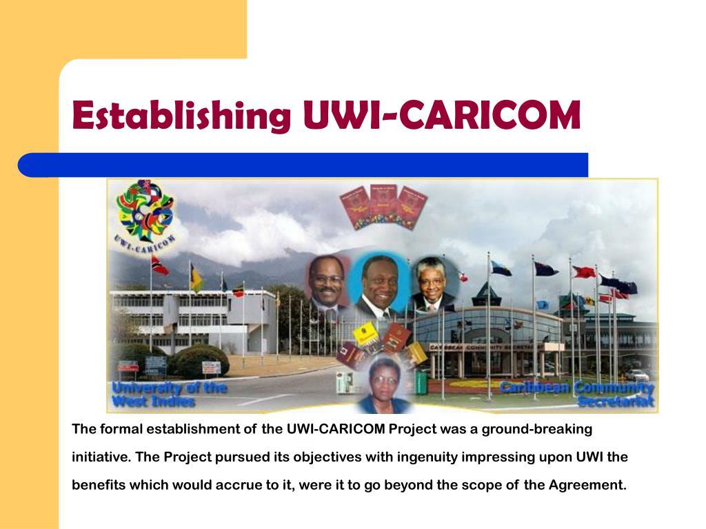 Establishing UWI-CARICOM