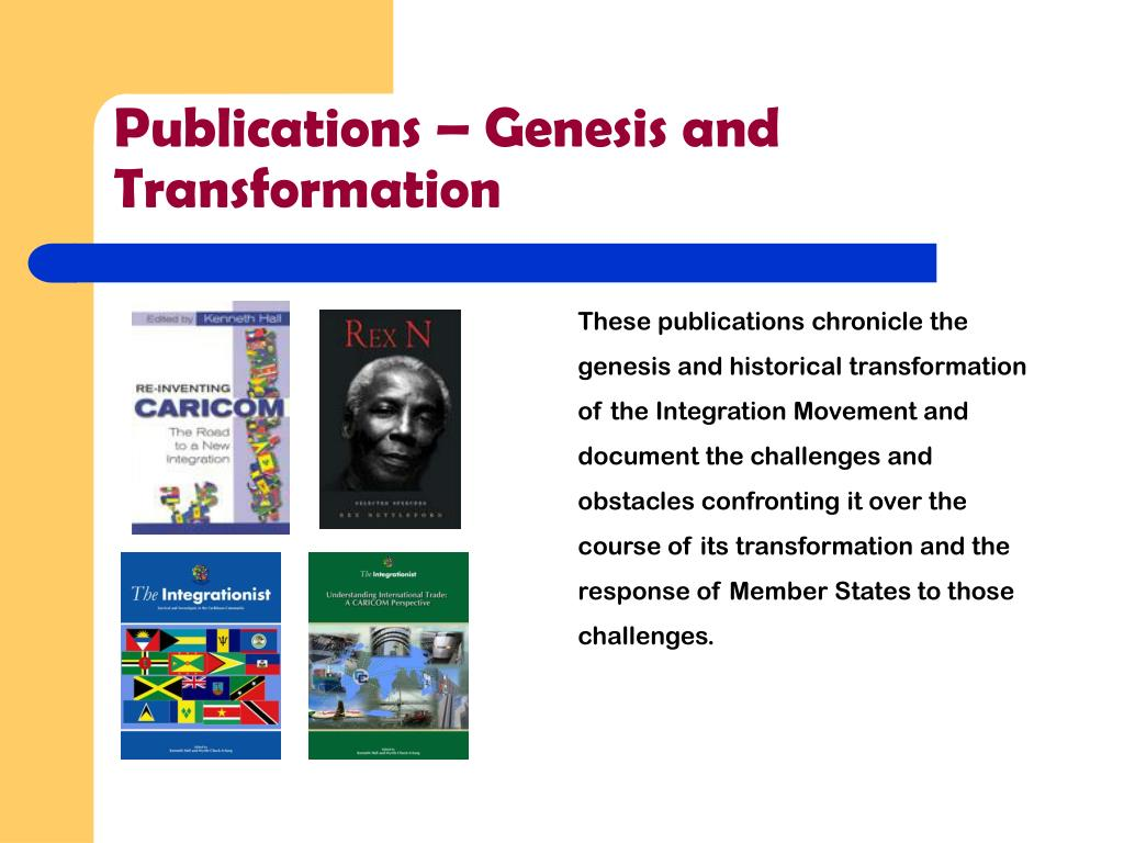 Publications – Genesis and Transformation