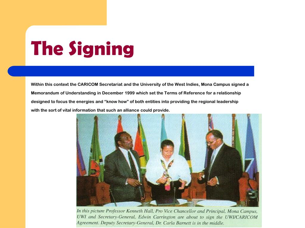 The Signing