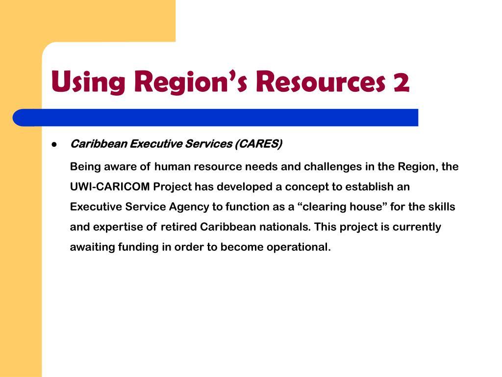 Using Region's Resources 2