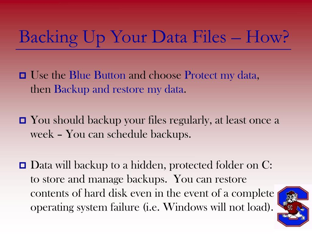 Backing Up Your Data Files – How?