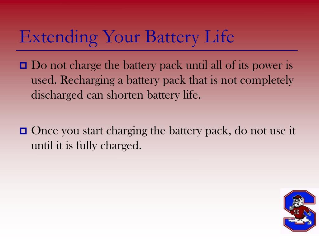 Extending Your Battery Life
