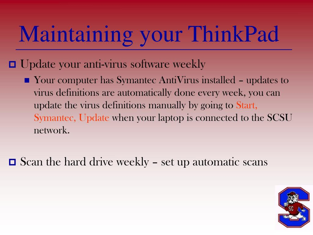 Maintaining your ThinkPad