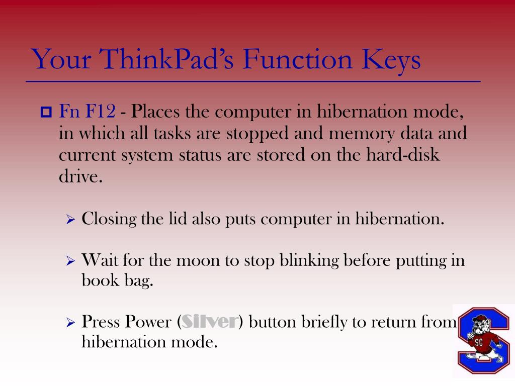 Your ThinkPad's Function Keys