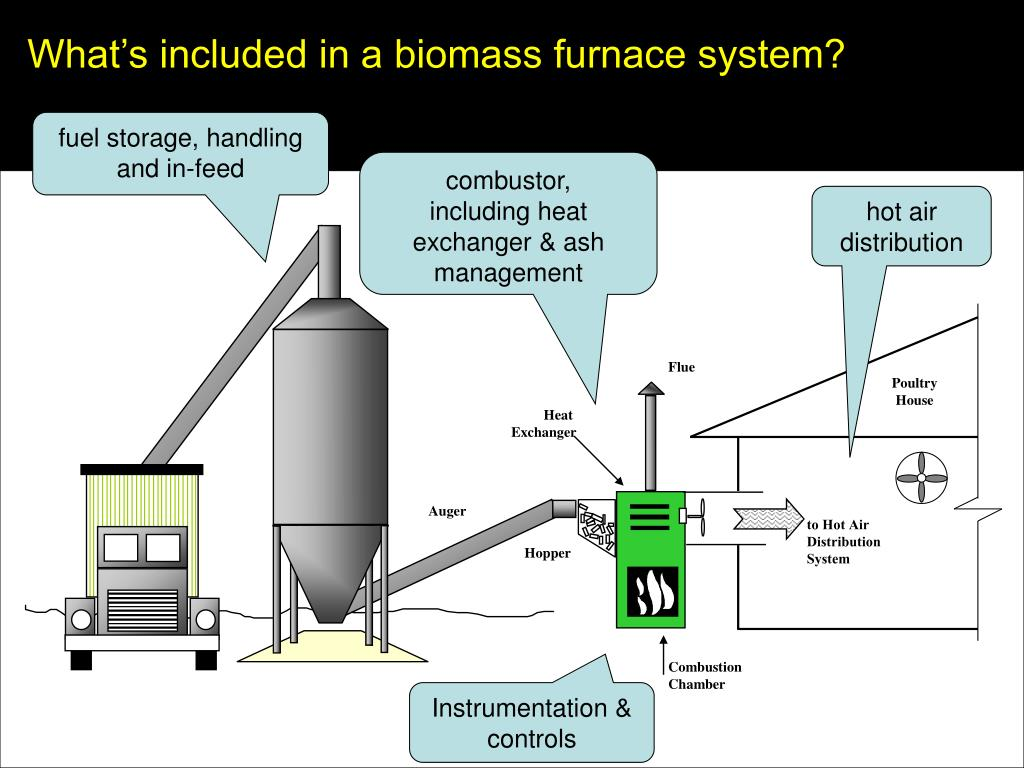 What's included in a biomass furnace system?