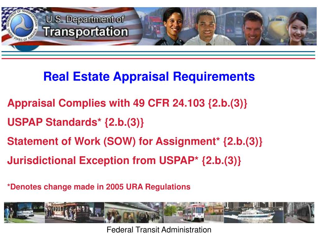 Real Estate Appraisal Requirements