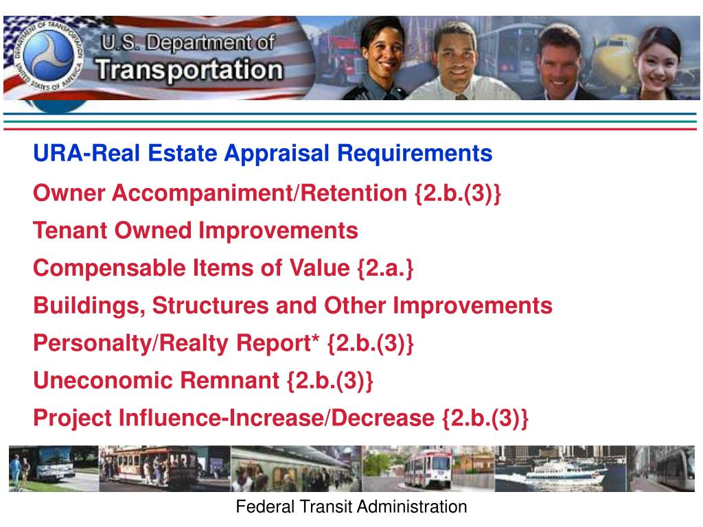 URA-Real Estate Appraisal Requirements