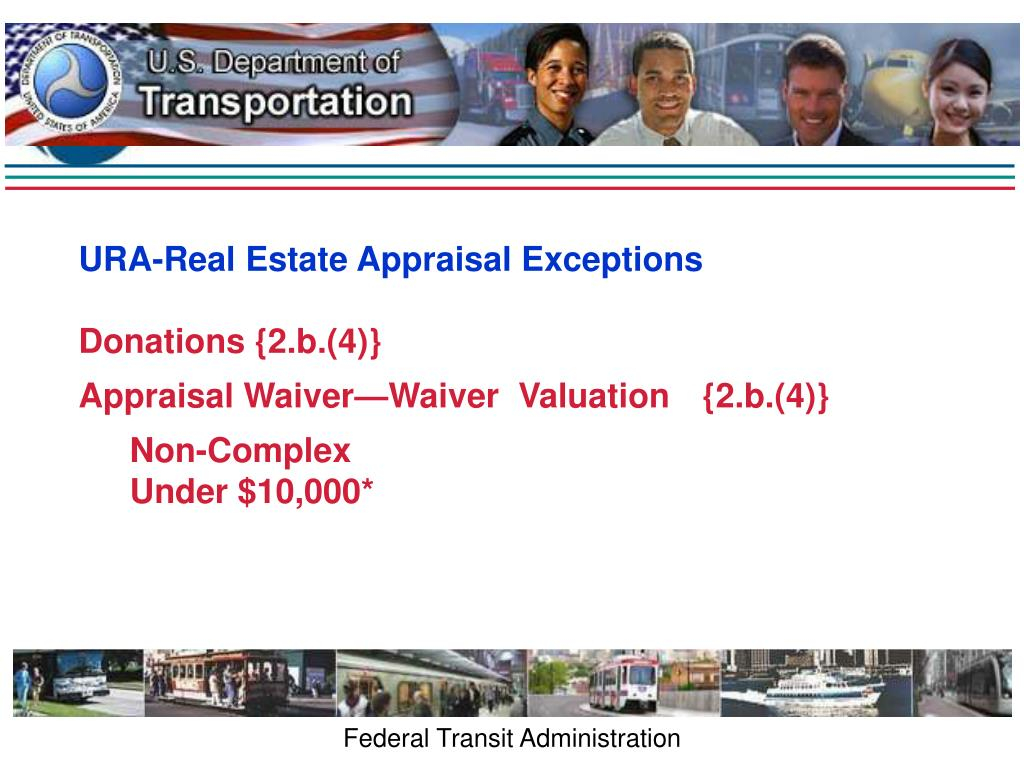 URA-Real Estate Appraisal Exceptions