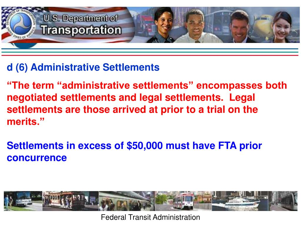 d (6) Administrative Settlements