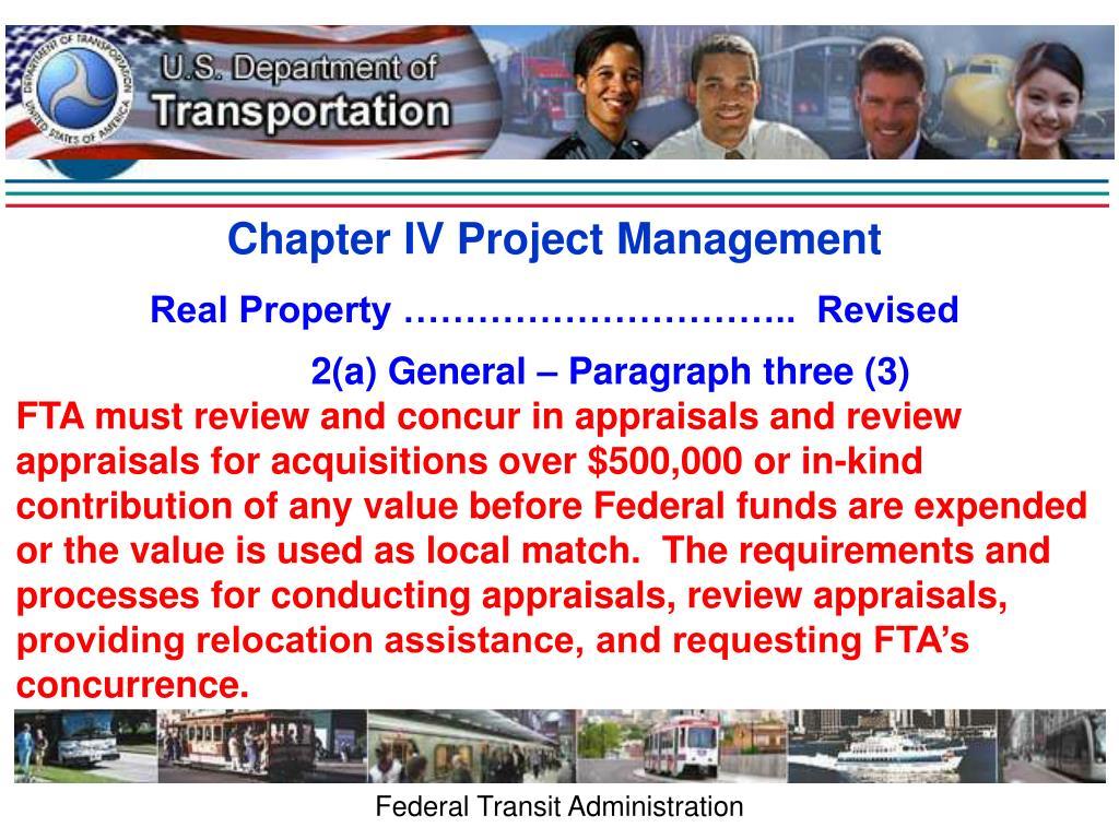 Chapter IV Project Management