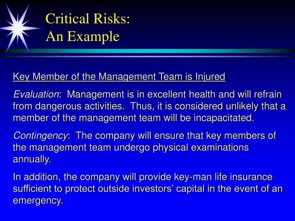 Critical Risks: